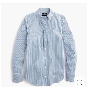 J.Crew Striped Perfect Stretch Button Down